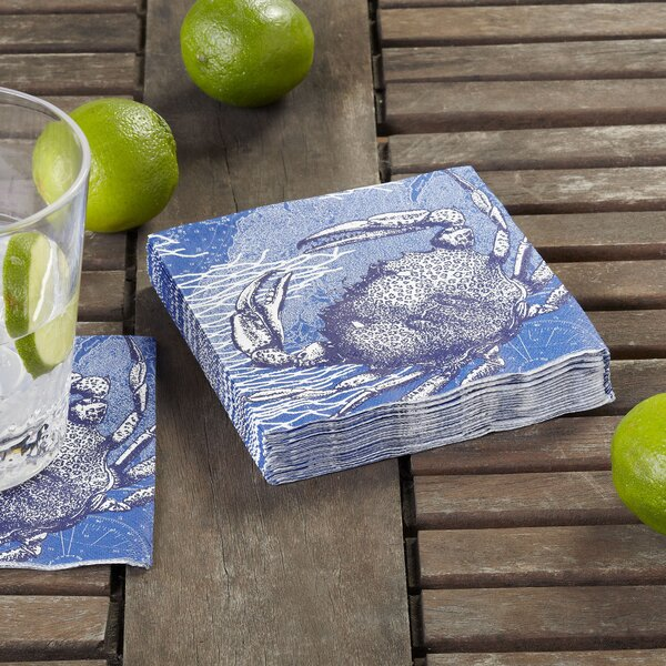 Crab Cocktail Napkin (Set of 36) by Birch Lane™