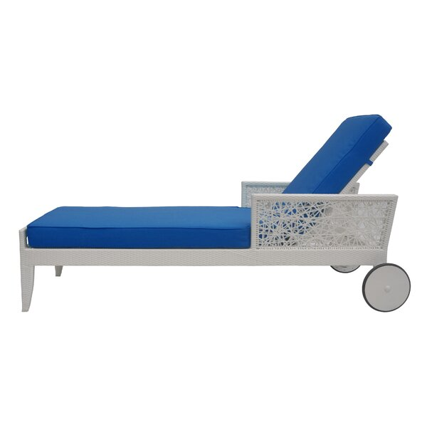 Mykonos Reclining Chaise Lounge with Cushion by David Francis Furniture