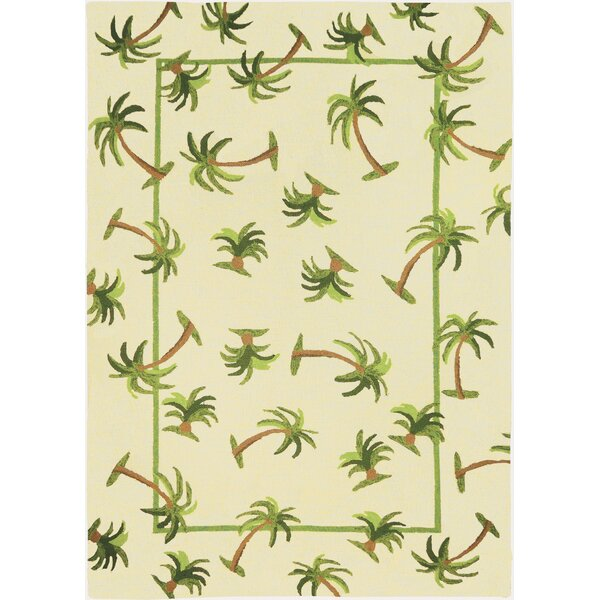 Callaway Palm Hand-Woven Cream Indoor/Outdoor Area Rug by Bay Isle Home