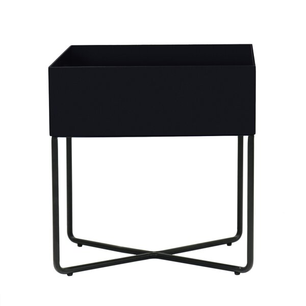 Helmuth Metal Nightstand In Black By 17 Stories
