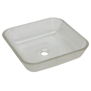 Compare prices Cubix Glass Square Vessel Bathroom Sink ByJSG Oceana