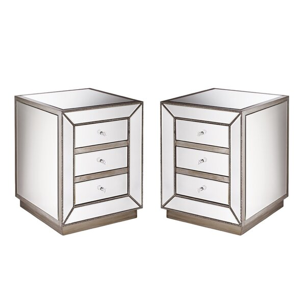 Bartram 3 Drawer Nightstand by House of Hampton