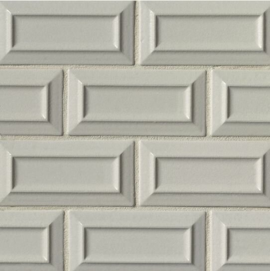 Portofino 3 x 6 Beveled Subway Tile in Gray by Grayson Martin