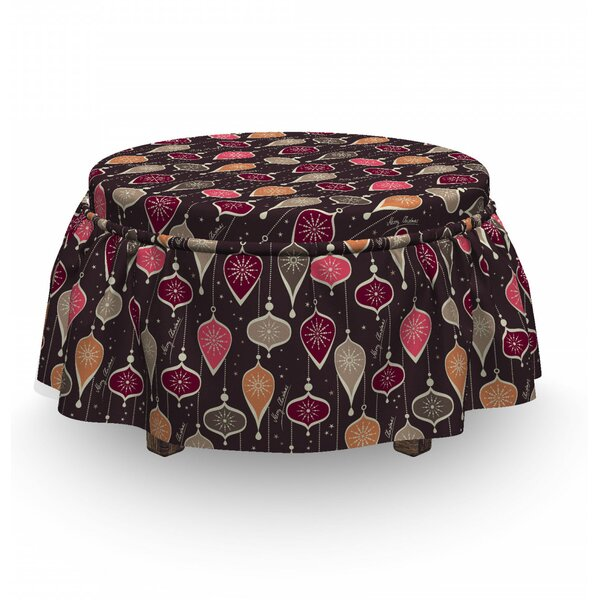 Balls And Baubles Ottoman Slipcover (Set Of 2) By East Urban Home