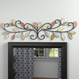 Perfect Wood Leaves Over The Door Wall Décor
