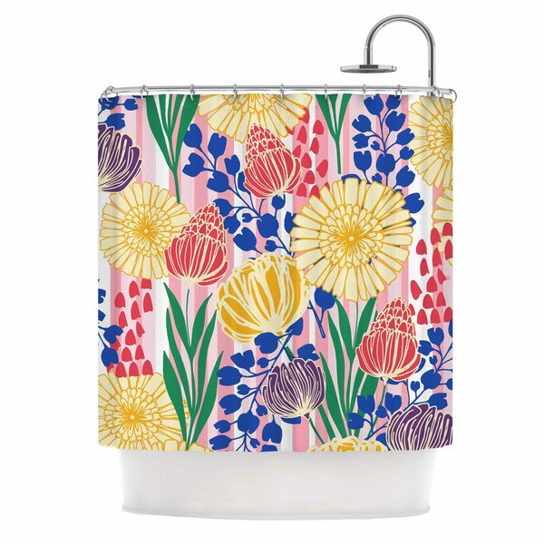 Pretty Bouquet by Amy Reber Floral Shower Curtain by East Urban Home