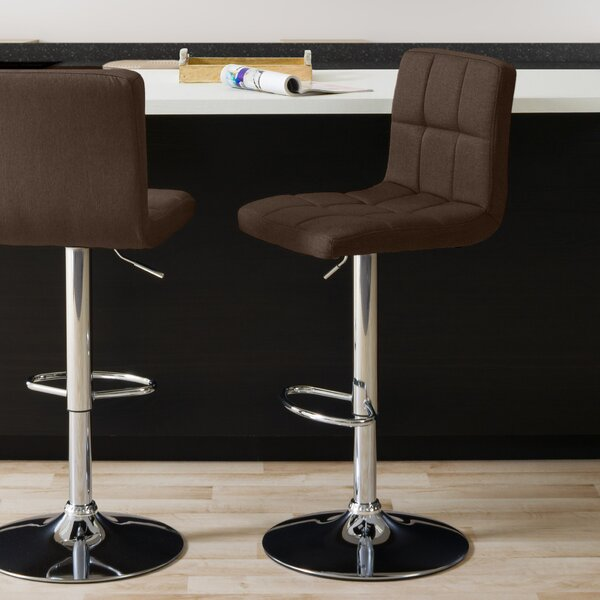Menahan Panel Adjustable Height Bar Stool (Set of 2) by Ivy Bronx