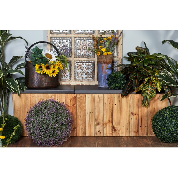 Rustic Plank Style Rectangular Planter Box by Cole & Grey