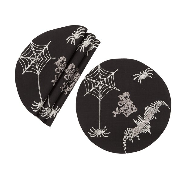 Kilpatrick Happy Halloween 16 Placemat (Set of 4) by The Holiday Aisle