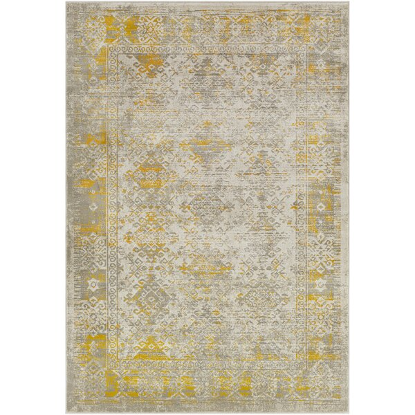 Anil Yellow/Gray Area Rug by Bungalow Rose