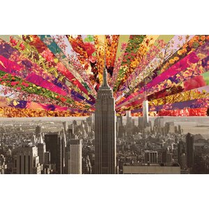 'Blooming New York' by Bianca Green Graphic Art on Wrapped Canvas by East Urban Home