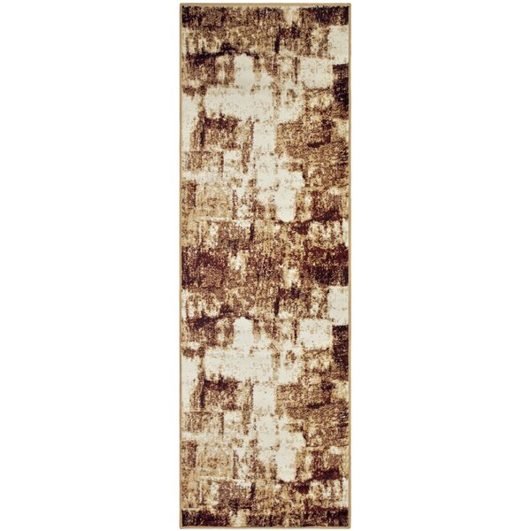 Azaleh Distressed Film Maroon Area Rug by Ebern Designs