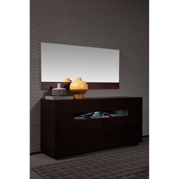 6 Drawer Double Dresser With Mirror By Orren Ellis