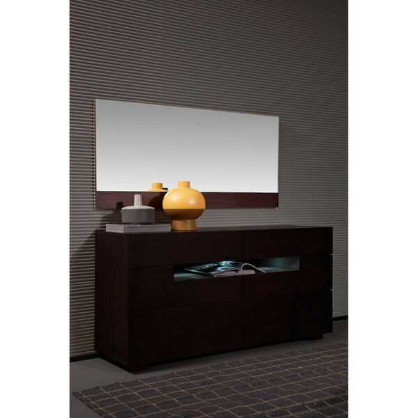 Patio Furniture 6 Drawer Double Dresser With Mirror