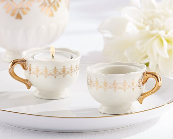 Classic Teacups Tealight Holder (Set of 12) by Kate Aspen