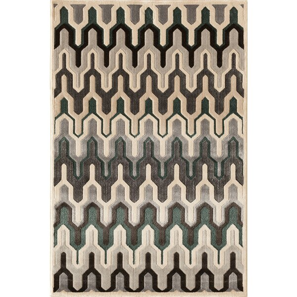 Suffolk Grey/Yellow Area Rug by Threadbind