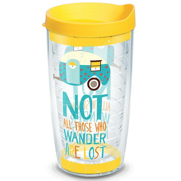 Great Outdoors Retro Camper All Who Wander Plastic Travel Tumbler by Tervis Tumbler