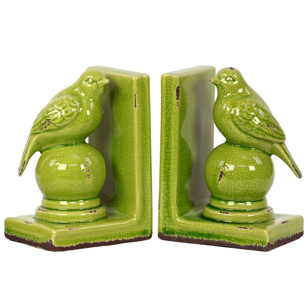 Stoneware Bird Bookend Turquoise (Set of 2) by Urb