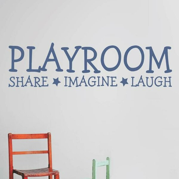 Playroom Share Imagine Laugh Wall Decal by Design With Vinyl