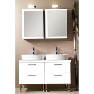 Aurora 45 Double Bathroom Vanity Set with Mirror