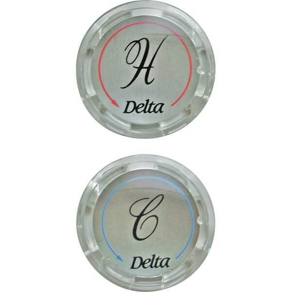 Replacement Clear Button Handle Bathroom Faucet (Set of 2) by Delta