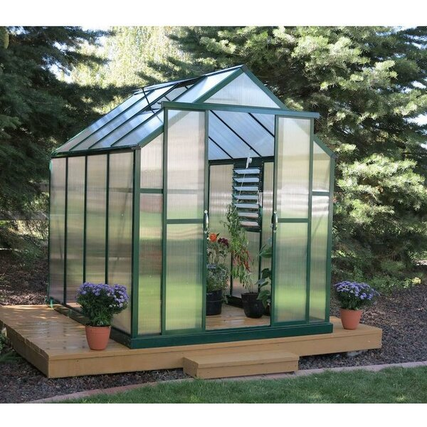 Element Heavy-Duty Aluminum 6 Ft. W x 12 Ft. D Greenhouse by Grandio Greenhouses