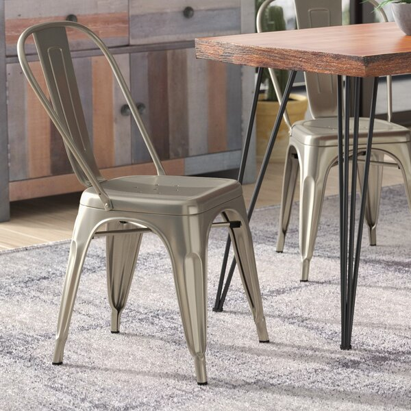 Hanna Tolix Dining Chair (Set of 4) by Williston Forge