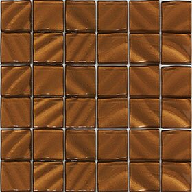 Valverde 3D 2 x 2 Glass/Aluminum Mosaic Tile in Copper by Vetromani