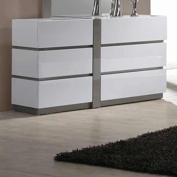 Manila 6 Drawer Double Dresser by Chintaly Imports