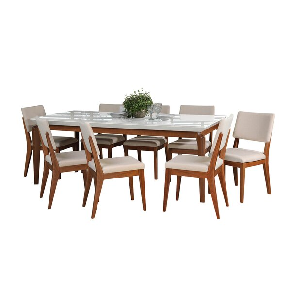 Tatro 9 Piece Dining Set by Union Rustic