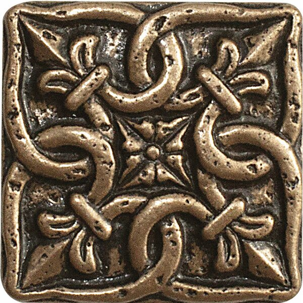 2 x 2 Renaissance Deco Accent Tile in Bronze by Parvatile
