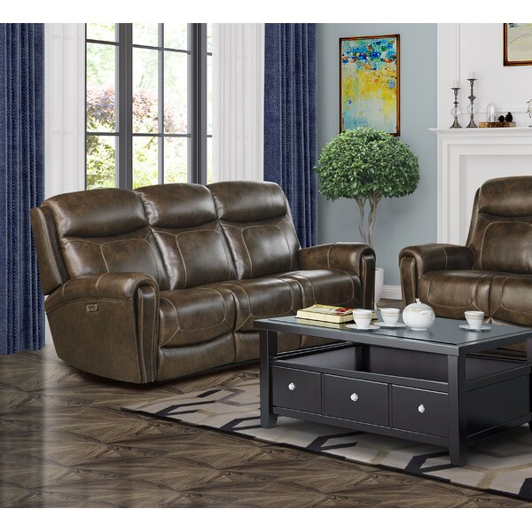 Excellent Reviews Jimmy Leather Reclining Loveseat by Red Barrel Studio by Red Barrel Studio