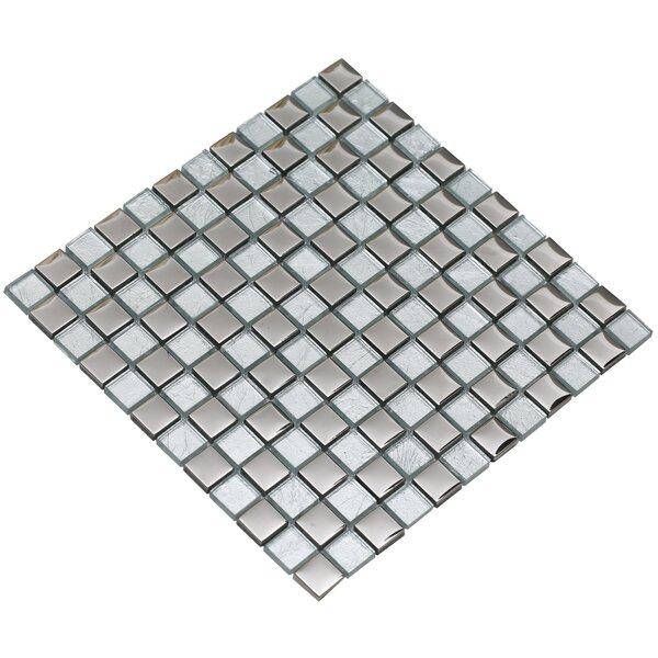 Bella 12 x 12 Glass Mosaic Tile in Silver by Mirrella