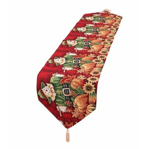 Fall Harvest Scarecrow Table Runner