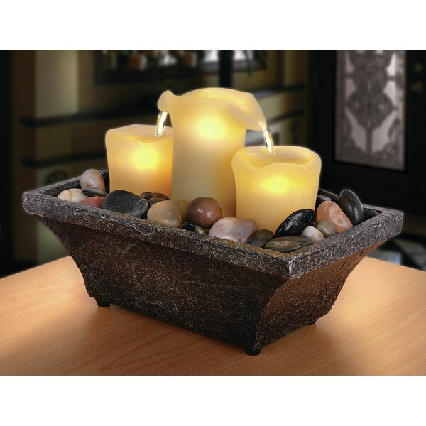 Flameless LED Candle Fountain with Light by Order Home Collection
