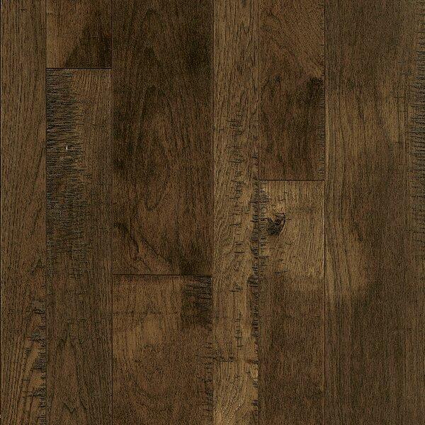 Random Width Solid Hickory Hardwood Flooring in Bark Brown by Armstrong Flooring