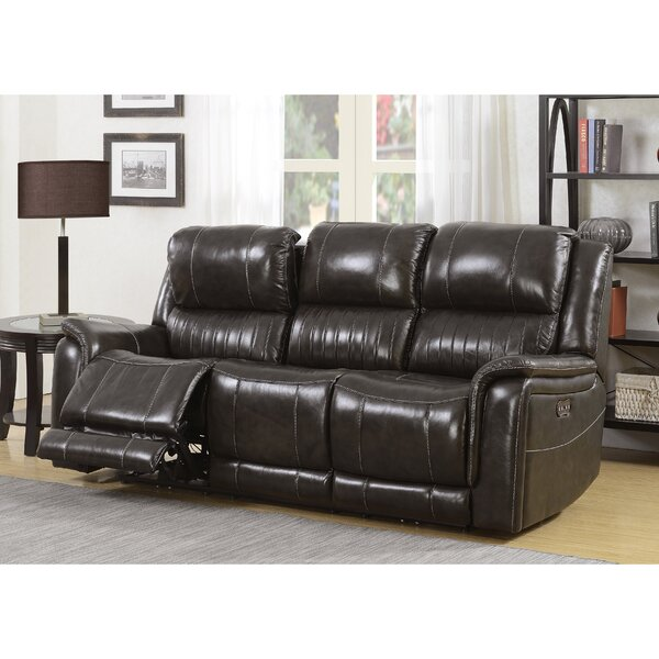 Price Decrease Guineau Leather Reclining Sofa by Red Barrel Studio by Red Barrel Studio