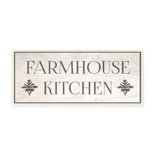'Farmhouse Kitchen Typography' Rectangle Textual Art on Canvas by Gracie Oaks