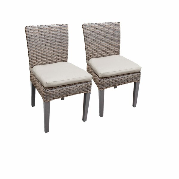 Rochford Armless Patio Dining Chair with Cushion (Set of 2) by Sol 72 Outdoor