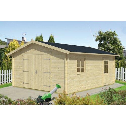 4|5 m x 5|5 m Garage Moll Garten Living Dach: Sechseckig Schwarz| Fundament: Ohne Fundament | Baumarkt > Garagen und Carports > Garagen | Garten Living