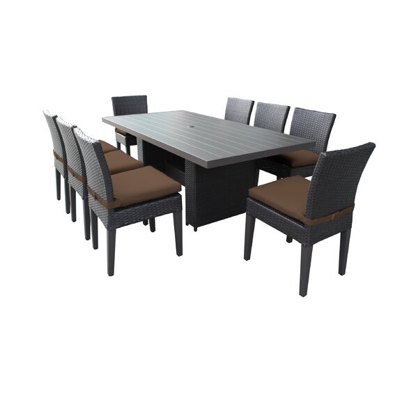 Fernando 9 Piece Outdoor Patio Dining Set with Cushions by Sol 72 Outdoor