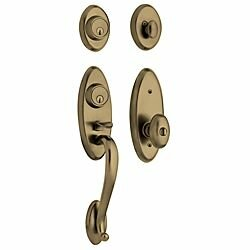 Landon Double Cylinder Handleset with Interior Knob by Baldwin