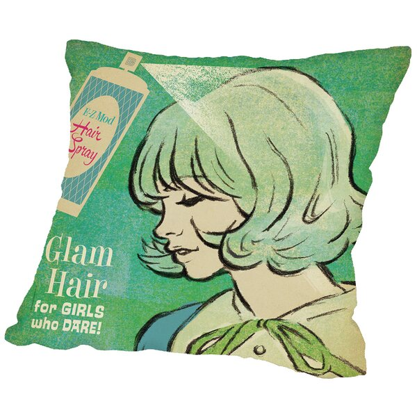 Hair Spray Throw Pillow by Americanflat