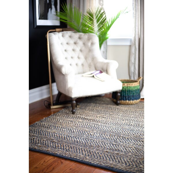 Holohlavy Hand-Woven Charcoal Area Rug by Bay Isle Home
