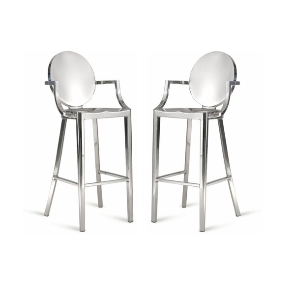 Mena Bar & Counter Stool (Set of 2) by Everly Quinn Everly Quinn
