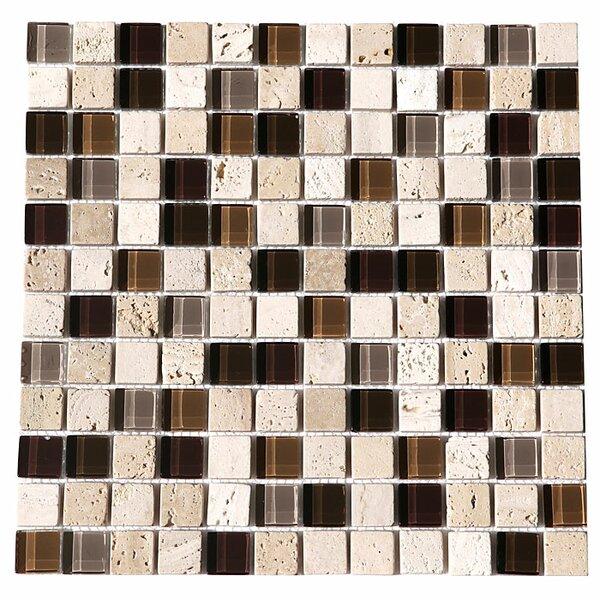 Paragon 12 x 12 Glass Mosaic Tile in Mocha by Kellani