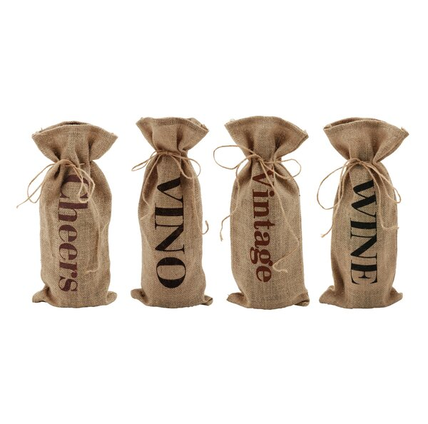 Marketplace Assorted Jute Message Bottle Sack by Twine