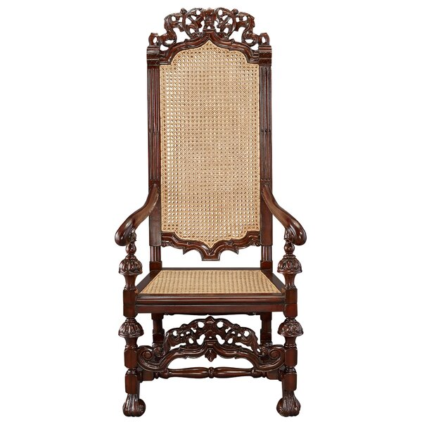 William and Mary Mahogany Armchair by Design Toscano