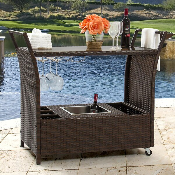 Stewood Patio Bar Serving Cart By Winston Porter