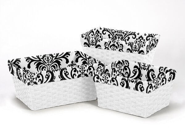 Isabella 3 Piece Basket Liner Set by Sweet Jojo Designs